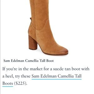6bad828a0 Beautiful Sam Edelman tall leather Boots - Tan